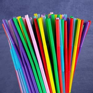 multi-color plastic straws