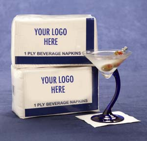 private label beverage napkins